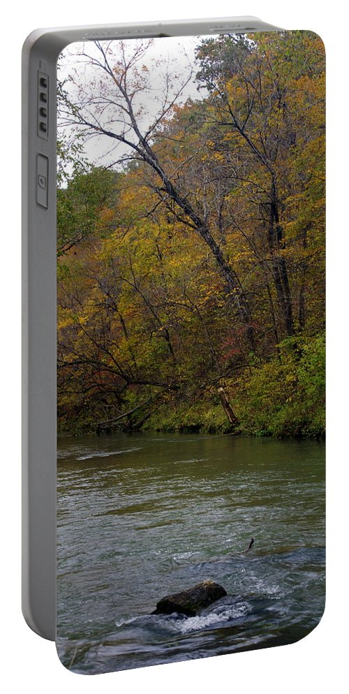 Current River Portable Battery Charger featuring the photograph Current River 8 by Marty Koch