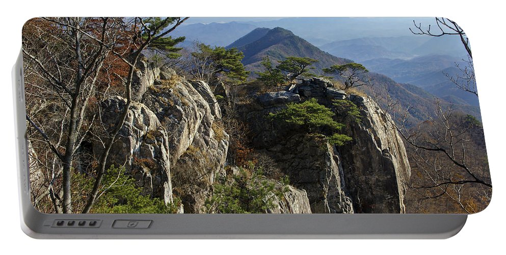 Korea Portable Battery Charger featuring the photograph Daedunsan by Michele Burgess