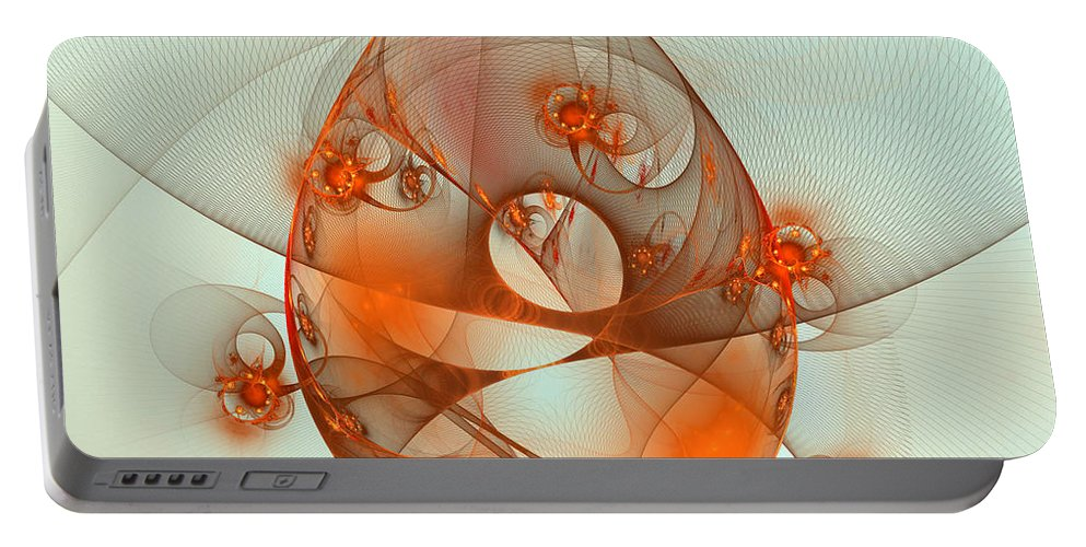 Fractal Portable Battery Charger featuring the digital art Dance Of The Netcasters by Richard Ortolano
