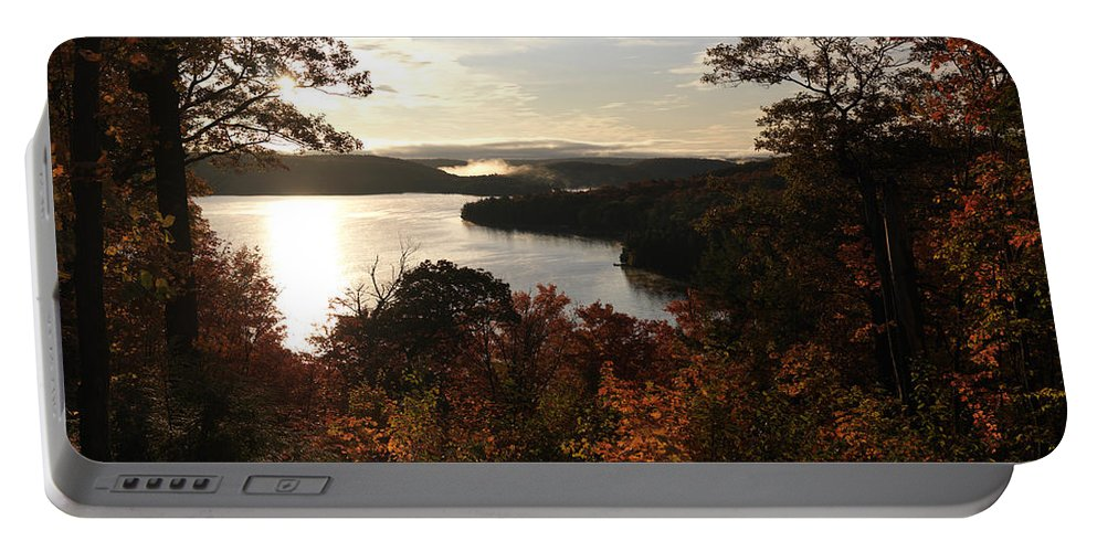 Autumn Portable Battery Charger featuring the photograph Dawn At Algonquin Park Canada by Oleksiy Maksymenko