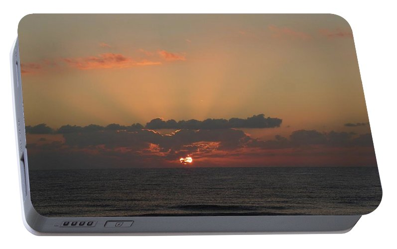 Sunrise Portable Battery Charger featuring the painting Day Dawns by Rayne Van Sing