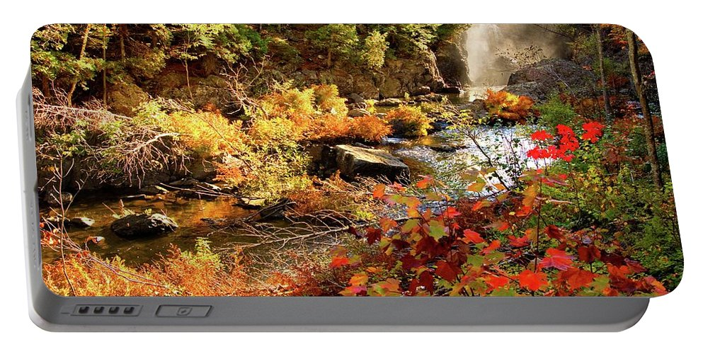 Dead River Falls Portable Battery Charger featuring the photograph Dead River Falls Marquette Michigan by Michael Bessler