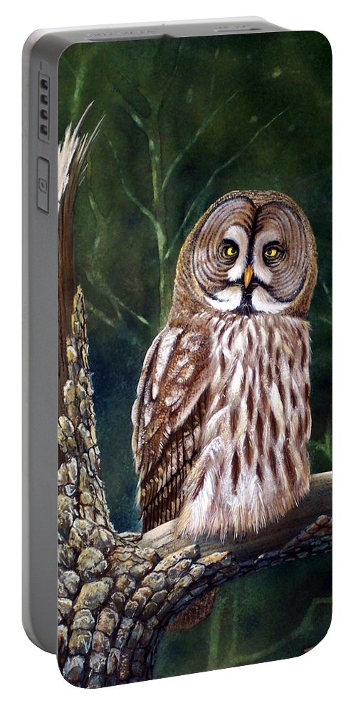 Wildlife Portable Battery Charger featuring the painting Deep In The Woods by Frank Wilson