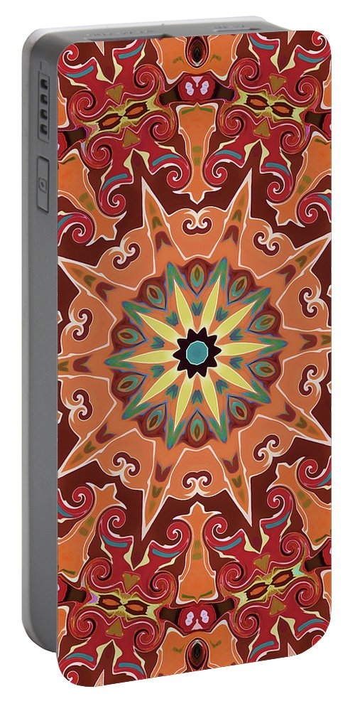 Mandala Art Portable Battery Charger featuring the painting Desire by Jeelan Clark