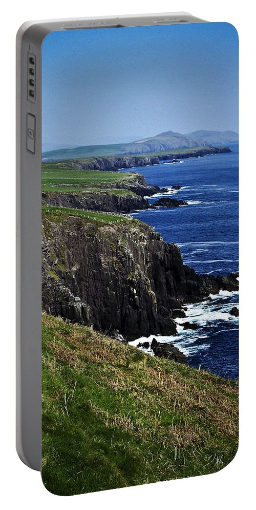 Irish Portable Battery Charger featuring the photograph Dingle Coastline Near Fahan Ireland by Teresa Mucha