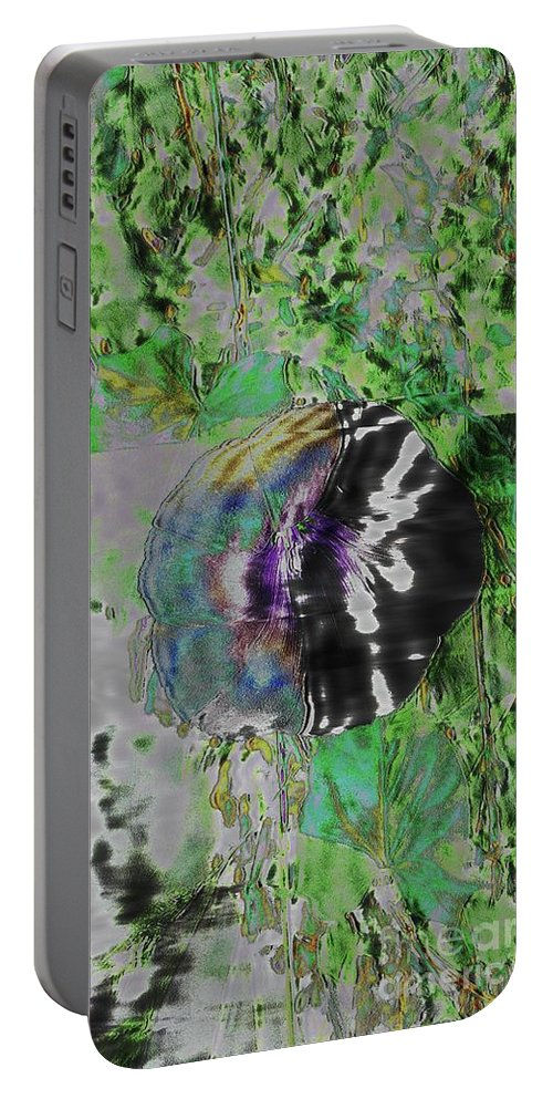 Fleurs Portable Battery Charger featuring the digital art Dissociation by Dominique Favre