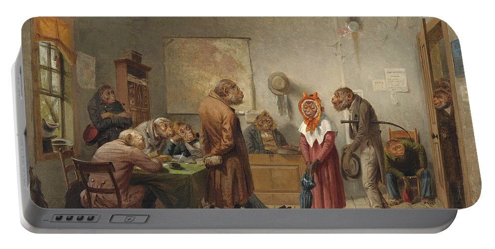 William Holbrook Beard Portable Battery Charger featuring the painting Divorce by William Holbrook Beard