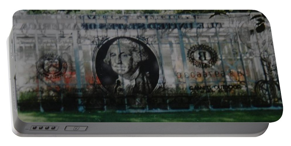 Park Portable Battery Charger featuring the photograph Dollar Bill by Rob Hans