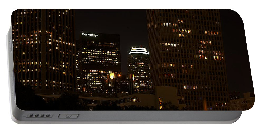 Clay Portable Battery Charger featuring the photograph Downtown L.a. In Hdr by Clayton Bruster
