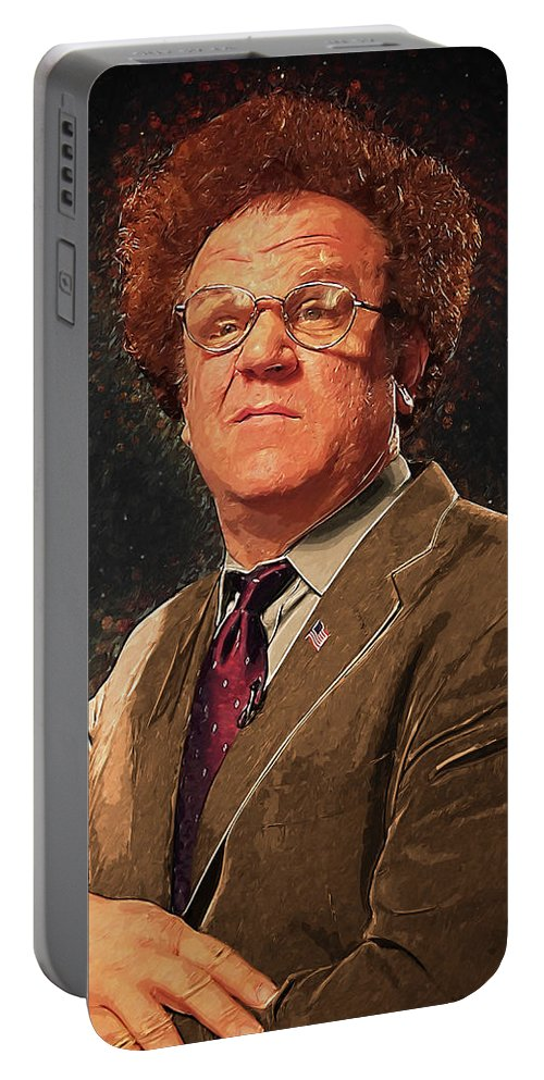Dr Steve Brule Portable Battery Charger featuring the digital art Dr Steve Brule by Zapista Zapista
