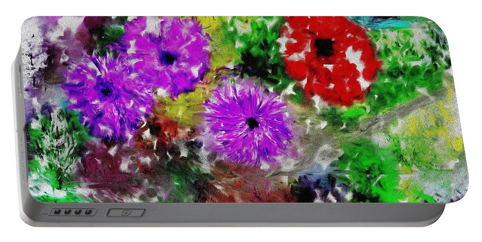 Landscape Portable Battery Charger featuring the digital art Dream Garden II by David Lane