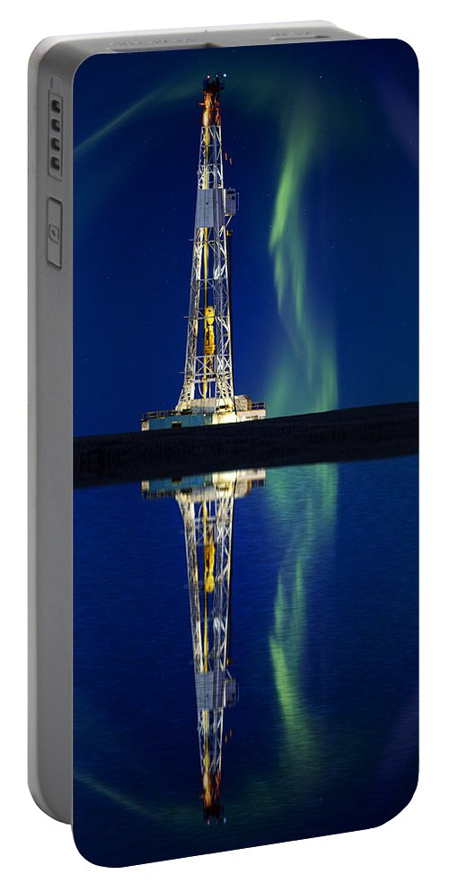 Platform Portable Battery Charger featuring the photograph Drilling Rig Potash Mine by Mark Duffy