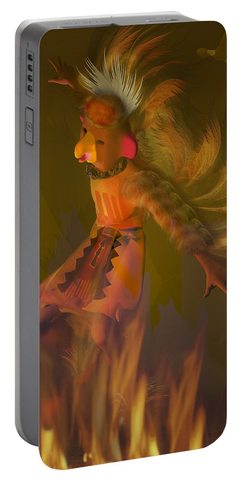 Dancer Portable Battery Charger featuring the digital art Eagle Dancer by Carol and Mike Werner