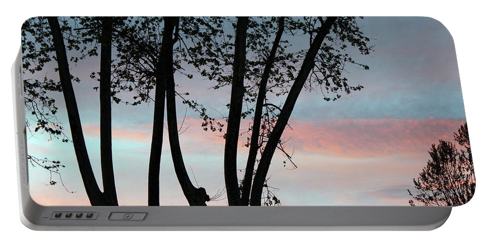 Tree Portable Battery Charger featuring the photograph Early Morning by Munir Alawi