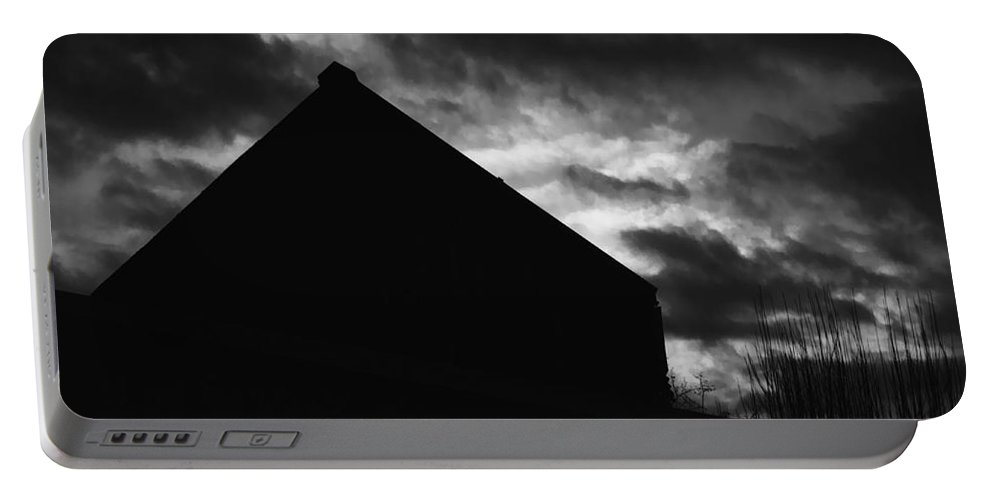 Black And White Portable Battery Charger featuring the photograph Early Morning by Peter Piatt