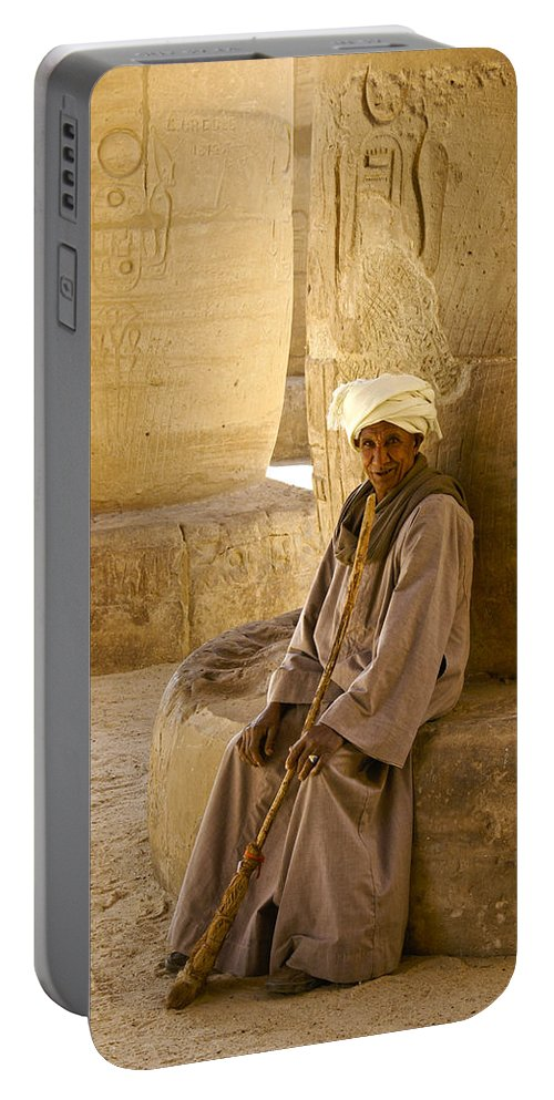 Egypt Portable Battery Charger featuring the photograph Egyptian Caretaker by Michele Burgess