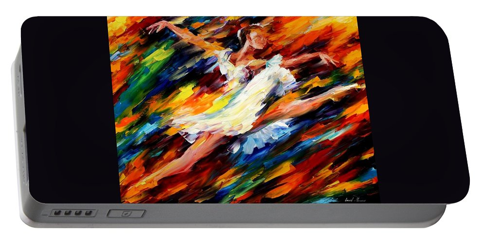 Afremov Portable Battery Charger featuring the painting Elation by Leonid Afremov