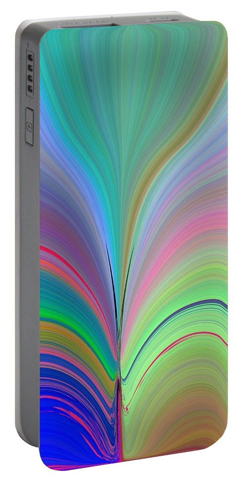 Flower Portable Battery Charger featuring the digital art Elation by Tim Allen