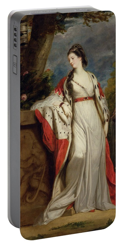 British Portable Battery Charger featuring the painting Elizabeth Gunning, Duchess Of Hamilton And Argyll by Joshua Reynolds