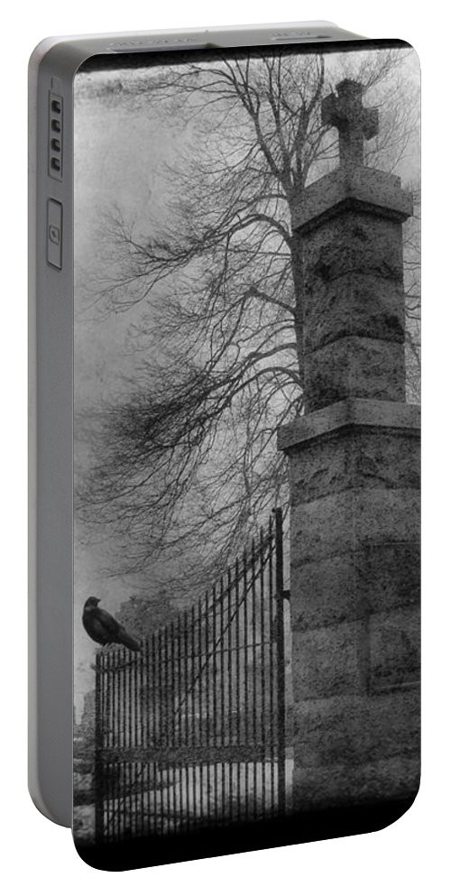 Gate Portable Battery Charger featuring the photograph Entrance by Gothicrow Images
