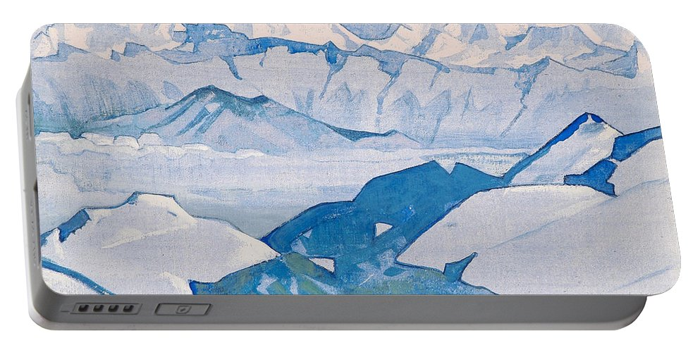 Country Portable Battery Charger featuring the painting Everest Range by Nicholas Roerich