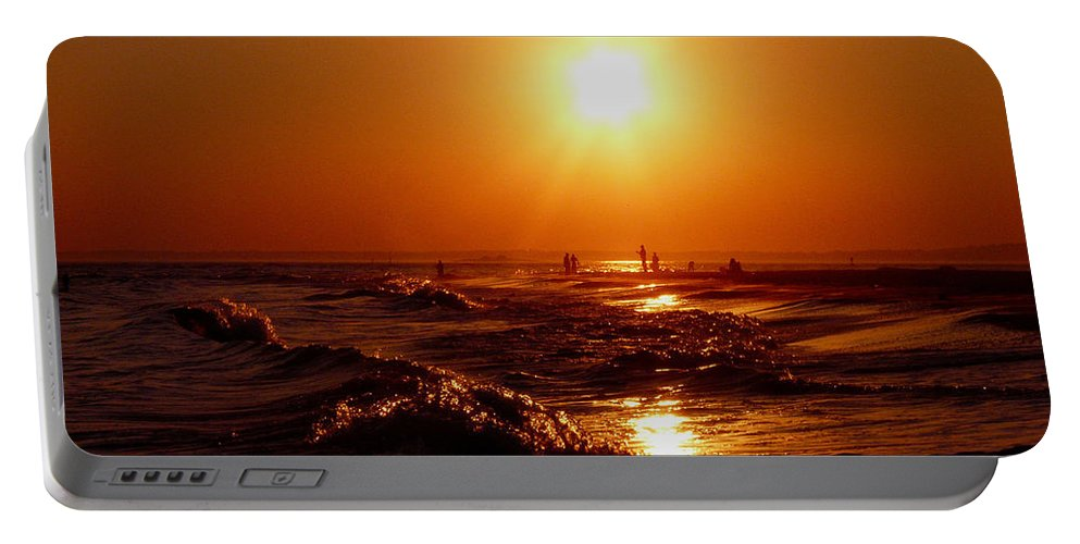 Sunset Portable Battery Charger featuring the photograph Extreme Blazing Sun by Kendall Eutemey