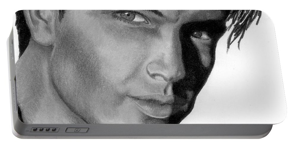 Male Portable Battery Charger featuring the drawing Eyes by Kristen Wesch