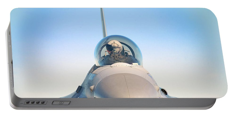 F-16 Fighting Falcon Portable Battery Charger featuring the photograph F-16 Fighting Falcon by Bruce Beck