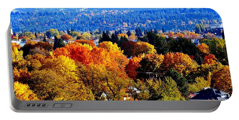 Fall Colors Portable Battery Charger featuring the photograph Fall Colors In Spokane by Ben Upham III