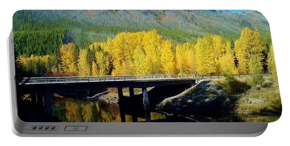 Mountains Portable Battery Charger featuring the photograph Fall Reflections by Eric Fellegy