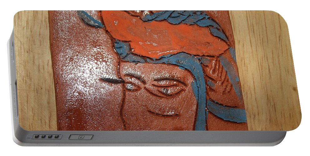 Jesus Portable Battery Charger featuring the ceramic art Family 12 - Tile by Gloria Ssali