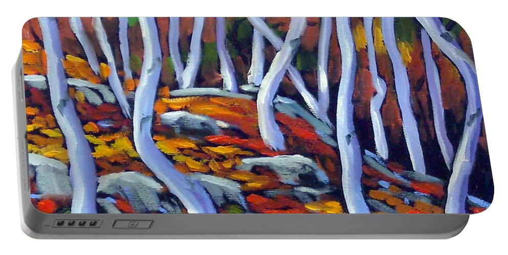 Art Portable Battery Charger featuring the painting Fantaisie No 6 by Richard T Pranke