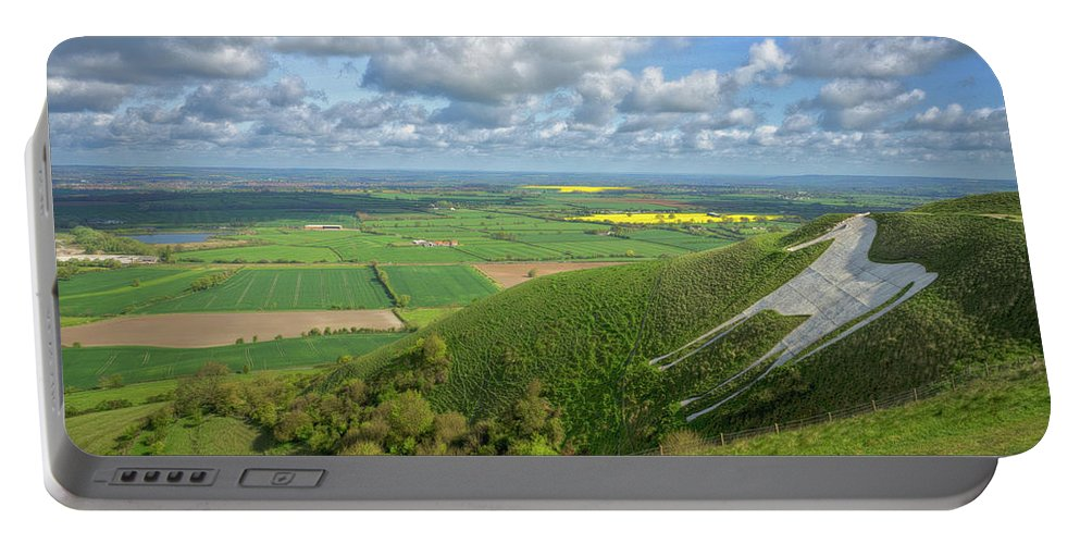 Whitehorse Portable Battery Charger featuring the photograph Farmlands. by Angela Aird