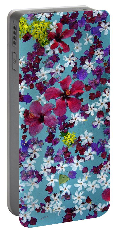 Flower Portable Battery Charger featuring the photograph Flower Fantasy Guatemala by Kurt Van Wagner