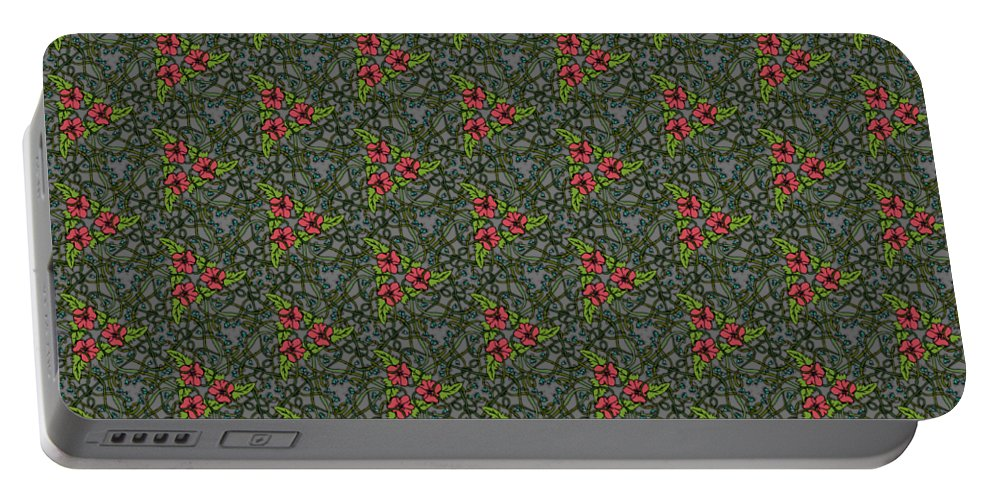 Forest Portable Battery Charger featuring the digital art Forest Vines by Mominah Arif