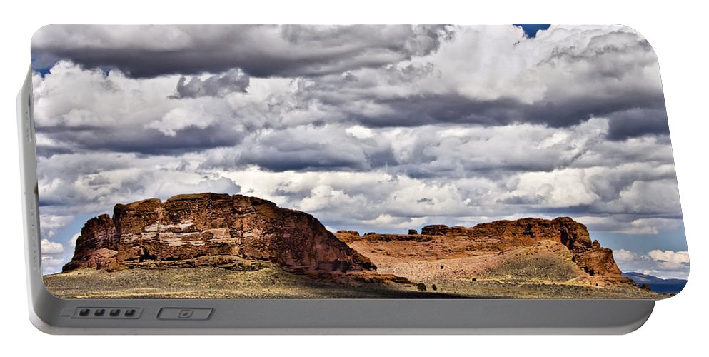 Fort Rock Portable Battery Charger featuring the photograph Fort Rock by Albert Seger