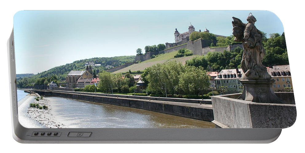 Fort Portable Battery Charger featuring the photograph Fortress Marienberg - Wuerzburg - Germany by Christiane Schulze Art And Photography