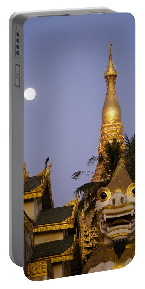 Burma Portable Battery Charger featuring the photograph Full Moon In Burma by Michele Burgess