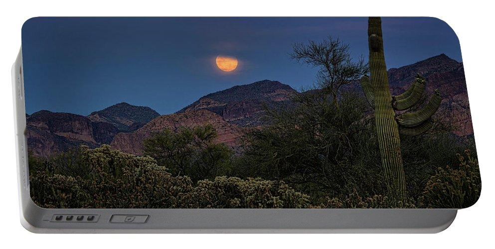 Full Moon Portable Battery Charger featuring the photograph Full Moon Rising by Saija Lehtonen