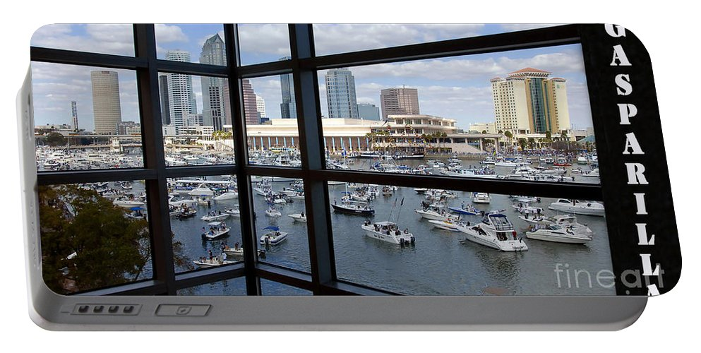 Gasparilla Pirate Festival Tampa Bay Florida Portable Battery Charger featuring the photograph Gasparilla by David Lee Thompson