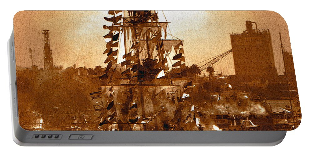 Gasparilla Pirate Festival Tampa Florida Portable Battery Charger featuring the photograph Gasparilla Invasion by David Lee Thompson