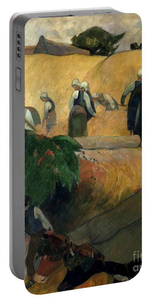 1889 Portable Battery Charger featuring the photograph Gauguin: Breton Women by Granger