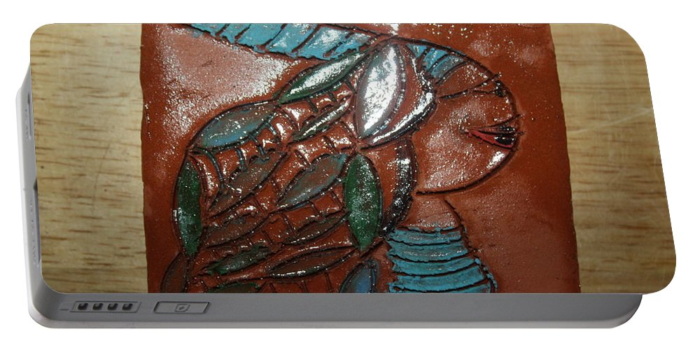 Jesus Portable Battery Charger featuring the ceramic art Gena - Tile by Gloria Ssali