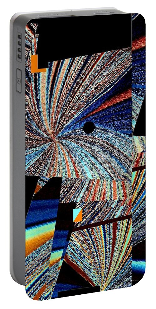 #geometricabstract1 Portable Battery Charger featuring the digital art Geometric Abstract 1 by Will Borden