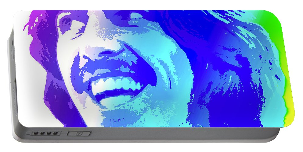George Harrison Portable Battery Charger featuring the digital art George Harrison by Greg Joens