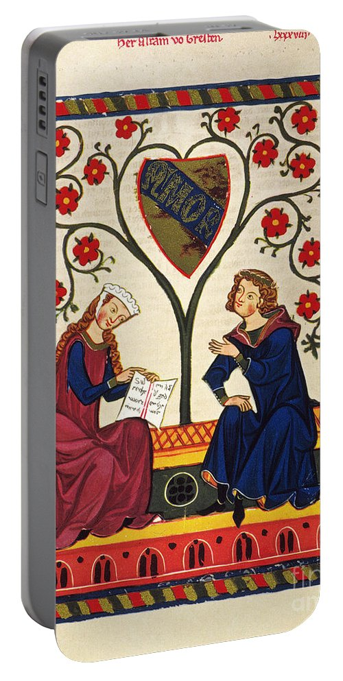 14th Century Portable Battery Charger featuring the photograph GERMAN MINNESINGER 14th C by Granger