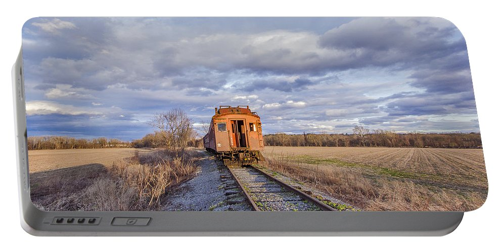 Catskill Railroad Portable Battery Charger featuring the photograph Ghost Train by Rachel Snydstrup
