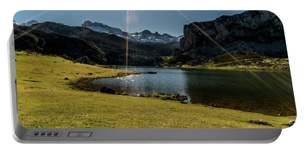 Spain Portable Battery Charger featuring the photograph Glacier Formed 1 by Ric Schafer