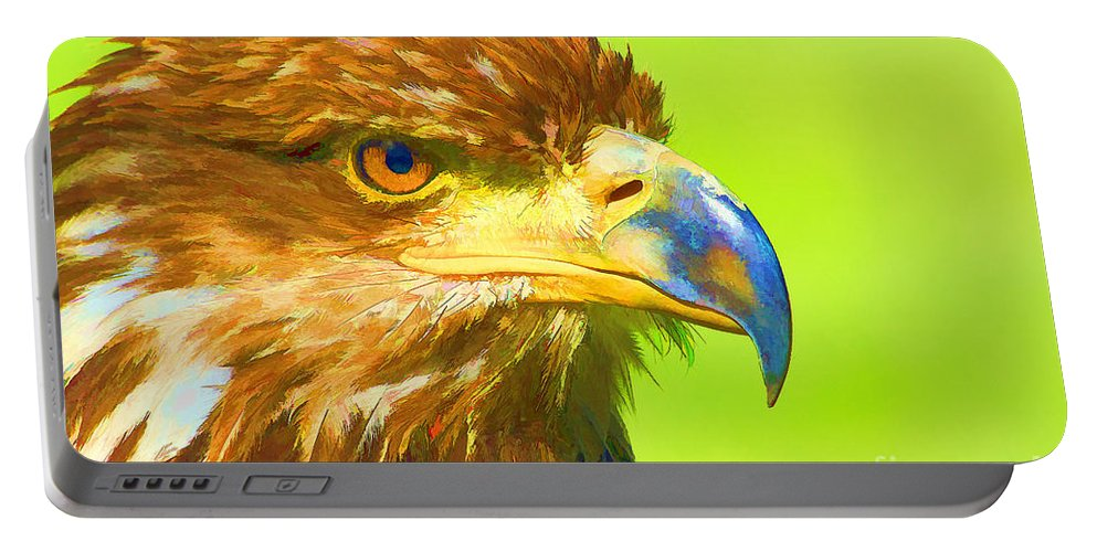 Bird Portable Battery Charger featuring the digital art Golden Eagle by Teresa Zieba