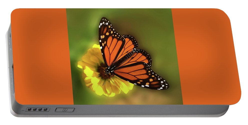 Monarch Butterfly Portable Battery Charger featuring the photograph Grace by Don Spenner